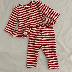 Baby GAP Red and White Stripe Two Piece